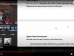 Tangkapan Layar Chanel You Tube, Ketua MK Anwar Usman membacakan amar putusan Sidang Sengketa Hasil Pilkada Belu 2020, Kamis (18/3/2021)